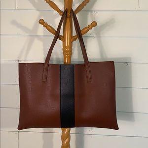 EUC Vince Camuto Vegan Leather tote brown black